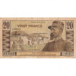 AEF - Pick 30 - 20 francs - 1957 - Etat : TB-