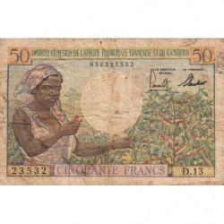 AEF - Pick 31 - 50 francs - 1957 - Etat : B+