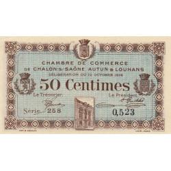 Chalon-sur-Saône / Autun / Louhans - Pirot 42-8 - 50 centimes - Série 258 - 27/06/1916 - Etat : NEUF