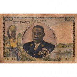 AEF - Pick 32 - 100 francs - 1957 - Etat : B+