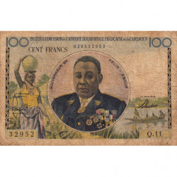 AEF - Pick 32 - 100 francs - 1957 - Etat : TB-