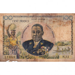 AEF - Pick 32 - 100 francs - 1957 - Etat : B-