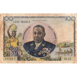 AEF - Pick 32 - 100 francs - 1957 - Etat : B
