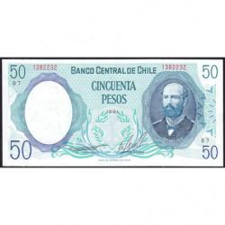 Chili - Pick 151b2 - 50 pesos - 1981 - Etat : NEUF