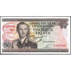 Luxembourg - Pick 55a - 50 francs - 25/08/1972 - Etat : NEUF