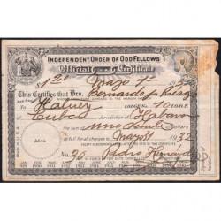 Cuba - Franc-Maçonnerie 1 - Capitation 1,20 peso - 01/05/1932 - Etat : TB