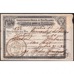 Cuba - Franc-Maçonnerie 1 - Capitation 1 peso - 01/07/1932 - Etat : TB+