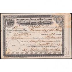 Cuba - Franc-Maçonnerie 1 - Capitation 1 peso - 01/08/1932 - Etat : TB+