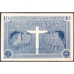 Billet de 10 vaillants - 1ère série /C - 1935-1945 - Etat : TTB