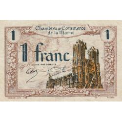 Châlons-sur-Marne / Epernay / Reims - Pirot 43-2 - 1 franc - 1920 - Etat : TTB
