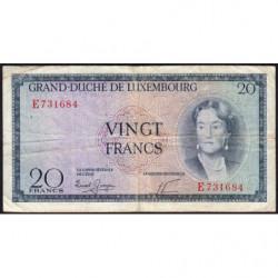 Luxembourg - Pick 49a - 20 francs - 1955 - Etat : TB