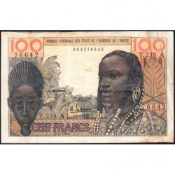 Côte d'Ivoire - Pick 101Ae - 100 francs - Série T.238 - 02/03/1965 - Etat : TB