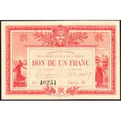 La Roche-sur-Yon (Vendée) - Pirot 65-17-H - 1 franc - 1915 - Etat : TTB+
