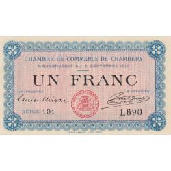Chambéry - Pirot 44-1 - 1 franc - Série 101 - 04/09/1915 - Etat : NEUF