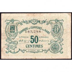 Le Mans - Pirot 69-01a - 50 centimes - 1915 - Etat : B+