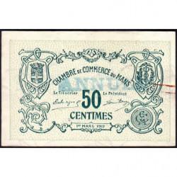 Le Mans - Pirot 69-11 - 50 centimes - Annulé - 1917 - Etat : SUP