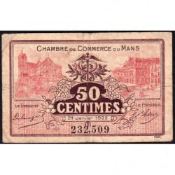 Le Mans - Pirot 69-23 - 50 centimes - 24/01/1922 - Etat : B+