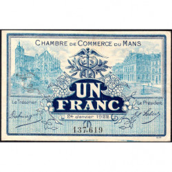 Le Mans - Pirot 69-25 - 1 franc - 1922 - Etat : TTB+