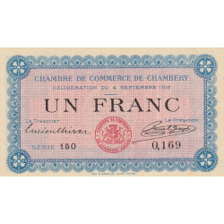 Chambéry - Pirot 44-1 - 1 franc - 1915 - Etat : SPL