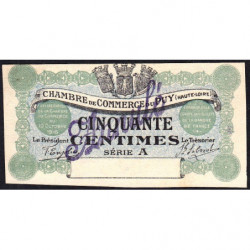 Le Puy (Haute-Loire) - Pirot 70-02-A - 50 centimes - 1916 - Annulé - Etat : NEUF