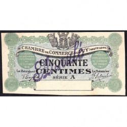 Le Puy (Haute-Loire) - Pirot 70-2 - 50 centimes - Série A - 10/10/1916 - Annulé - Etat : NEUF