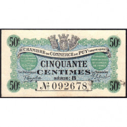 Le Puy (Haute-Loire) - Pirot 70-05 - Série B - 50 centimes - 1916 - Etat : pr.NEUF