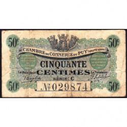 Le Puy (Haute-Loire) - Pirot 70-5 - 50 centimes - Série C - 10/10/1916 - Etat : B