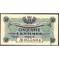 Le Puy (Haute-Loire) - Pirot 70-5 - 50 centimes - Série C - 10/10/1916 - Etat : pr.NEUF