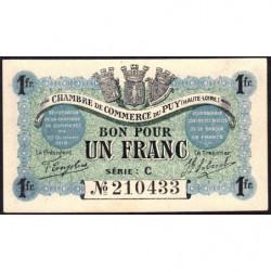 Le Puy (Haute-Loire) - Pirot 70-06 - Série C - 1 franc - 1916 - Etat : SUP+