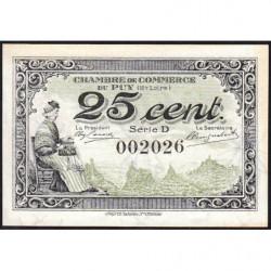 Le Puy (Haute-Loire) - Pirot 70-07-D - 25 centimes - 1916 - Etat : NEUF