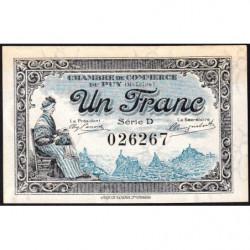 Le Puy (Haute-Loire) - Pirot 70-9 - 1 franc - Série D - 10/10/1916 - Etat : NEUF