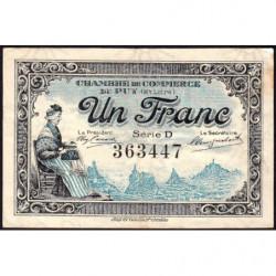 Le Puy (Haute-Loire) - Pirot 70-9 - 1 franc - Série D - 10/10/1916 - Etat : TTB-