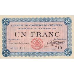 Chambéry - Pirot 44-5 - 1 franc - Série 193 - 19/02/1916 - Etat : SPL