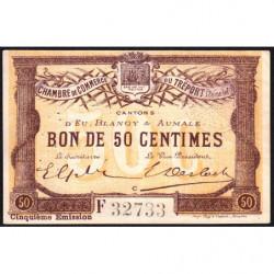 Le Tréport (Eu, Blangy, Aumale) - Pirot 71-21a-F - 50 centimes - 1916 - Etat : SUP