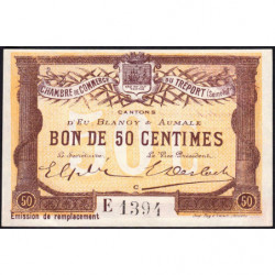 Le Tréport (Eu, Blangy, Aumale) - Pirot 71-17-E - 50 centimes - 1916 - Etat : pr.NEUF