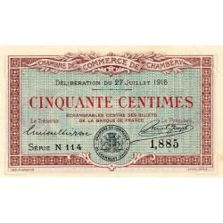 Chambéry - Pirot 44-7 - 50 centimes - Série N 114 - 27/07/1916 - Etat : SUP+