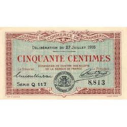 Chambéry - Pirot 44-7 - 50 centimes - 1916 - Etat : SUP