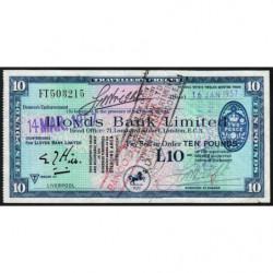 Grande-Bretagne - Chèque Voyage - Lloyds - 10 pounds - 1957 - Etat : SUP