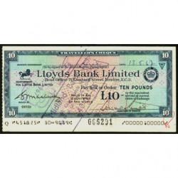 Grande-Bretagne - Chypre - Chèque Voyage - Lloyds - 10 pounds - 1967 - Etat : SUP