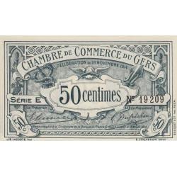 Auch (Gers) - Pirot 15-1 - 50 centimes - Série E - 18/11/1914 - Etat : SPL
