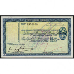 Grande-Bretagne - Chèque Voyage - National Provincial - 5 pounds - 1957 - Etat : SUP
