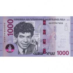 Arménie - Pick 61 - 1'000 dram - 2018 - Etat : NEUF