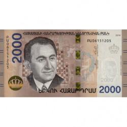 Arménie - Pick 62 - 2'000 dram - 2018 - Etat : NEUF
