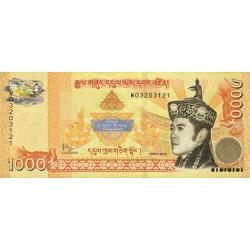 Bhoutan - Pick 36 - 1'000 ngultrum - 2016 - Série W - Billet commémoratif - Etat : NEUF
