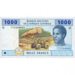 Cameroun - Afrique Centrale - P 207U-5 - 1'000 francs - 2017 - Etat : NEUF