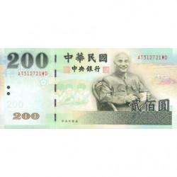Chine - Taiwan - Pick 1992 - 200 yüan - 2001 - Etat : NEUF