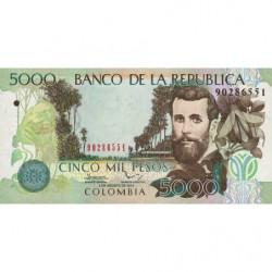 Colombie - Pick 452q - 5'000 pesos - 02/08/2014 - Etat : NEUF