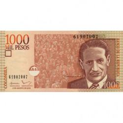 Colombie - Pick 456v - 1'000 pesos - 02/08/2016 - Etat : NEUF