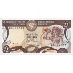 Chypre - Pick 53d - 1 livre - 01/09/1995 - Etat : NEUF