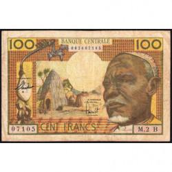 Centrafrique - Afrique Equatoriale - Pick 3b - 100 francs - 1963 - Etat : TB à TB+